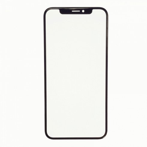 Apple IPhone XR Screen Glass with Frame Black - bfix.co.uk