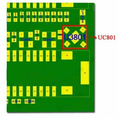 U3801 LP5907SNX-2.75 Touch ID Power Supply IC iPhone 7 iPhone 7 Plus Bfix.co.uk